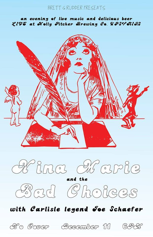 LIVE @ Molly Pitcher UPSTAIRS – Nina Marie & the Bad Choices Hero Image